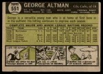 1961 Topps #551  George Altman  Back Thumbnail