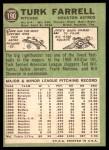 1967 Topps #190  Turk Farrell  Back Thumbnail