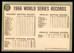 1967 Topps #155  Hank Bauer / Dave McNally 1966 World Series Summary - The Winners Celebrate Back Thumbnail