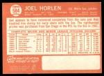 1964 Topps #584  Joel Horlen  Back Thumbnail