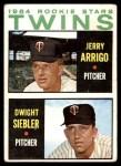 1964 Topps #516   -  Jerry Arrigo / Dwight Siebler Twins Rookies Front Thumbnail
