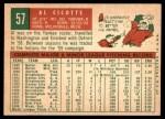 1959 Topps #57  Al Cicotte  Back Thumbnail