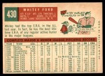 1959 Topps #430  Whitey Ford  Back Thumbnail