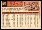 1959 Topps #523  Harry Bright  Back Thumbnail
