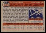 1957 Topps #134  Don Kaiser  Back Thumbnail