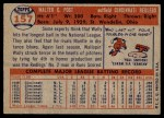 1957 Topps #157  Wally Post  Back Thumbnail