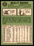 1967 Topps #224  Walt Bond  Back Thumbnail