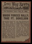 1962 Topps Civil War News #6   Pulled to Safety Back Thumbnail