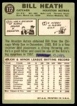 1967 Topps #172  Bill Heath  Back Thumbnail