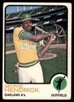 1973 Topps #13  George Hendrick  Front Thumbnail