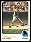 1973 Topps #406  Paul Lindblad  Front Thumbnail