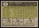 1961 Topps #5  John Romano  Back Thumbnail