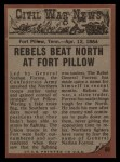1962 Topps Civil War News #60   Suicide Charge Back Thumbnail