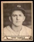1940 Play Ball #145  Vito Tamulis  Front Thumbnail