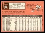 1969 Topps #487  Denis Menke  Back Thumbnail