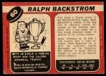 1968 O-Pee-Chee #60  Ralph Backstrom  Back Thumbnail