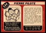 1968 O-Pee-Chee #124  Pierre Pilote  Back Thumbnail