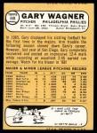 1968 Topps #448  Gary Wagner  Back Thumbnail