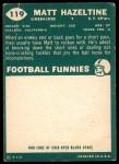 1960 Topps #119  Matt Hazeltine  Back Thumbnail