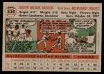 1956 Topps #320  Joe Adcock  Back Thumbnail