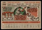 1956 Topps #268  Dale Mitchell  Back Thumbnail