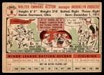 1956 Topps #8  Walter Alston  Back Thumbnail
