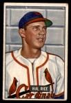 1951 Bowman #300  Hal Rice  Front Thumbnail