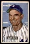 1951 Bowman #289  Cliff Mapes  Front Thumbnail
