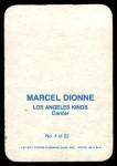 1977 Topps O-Pee-Chee Glossy #4 RND Marcel Dionne  Back Thumbnail