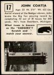 1951 Topps Magic #17  John Coatta  Back Thumbnail