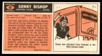 1965 Topps #68  Sonny Bishop  Back Thumbnail