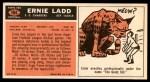 1965 Topps #164  Ernie Ladd  Back Thumbnail