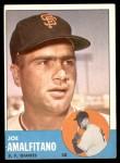 1963 Topps #199  Joe Amalfitano  Front Thumbnail