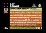 2007 Topps Update #248  Roy Oswalt  Back Thumbnail