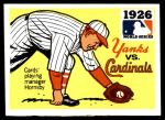 1971 Fleer World Series #24   -  Rogers Hornsby 1926 Cardinals / Yankees Front Thumbnail