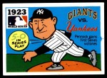 1971 Fleer World Series #21   1923 Yankees / Giants Front Thumbnail
