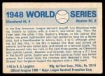 1970 Fleer World Series #45   1948 Indians vs. Braves Back Thumbnail