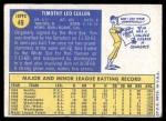 1970 Topps #49  Tim Cullen  Back Thumbnail