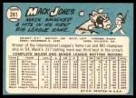1965 Topps #241  Mack Jones  Back Thumbnail