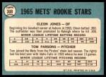 1965 Topps #308   -  Cleon Jones / Tom Parsons Mets Rookies Back Thumbnail
