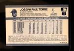 1971 Kellogg's #62  Joe Torre  Back Thumbnail