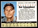 1961 Post #111  Red Schoendienst   Front Thumbnail