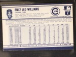 1972 Kellogg's #46  Billy Williams  Back Thumbnail