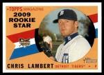 2009 Topps Heritage #118  Chris Lambert  Front Thumbnail