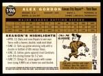 2009 Topps Heritage #196  Alex Gordon  Back Thumbnail