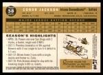 2009 Topps Heritage #58  Conor Jackson  Back Thumbnail