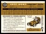 2009 Topps Heritage #155  Jeff Kent  Back Thumbnail