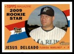 2009 Topps Heritage #125  Jesus Delgado  Front Thumbnail