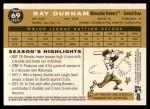 2009 Topps Heritage #69  Ray Durham  Back Thumbnail