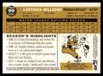 2009 Topps Heritage #99  Lastings Milledge  Back Thumbnail